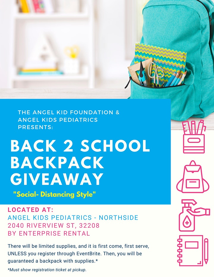 """Back 2 School Backpack Giveaway """"Social-Distancing Style"""" image"""