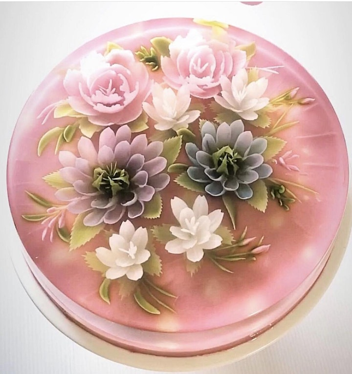 3D Jelly Art Floral Cake with Natural Colours Workshop (Basic Level) image