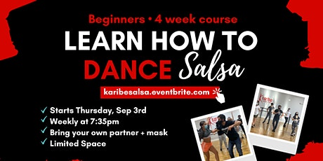 Beginners: Learn how to dance Salsa in 4 weeks! tickets