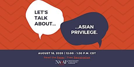 A Conversation on Asian Privilege tickets