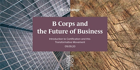 B Corps and the Future of Business - Webinar tickets