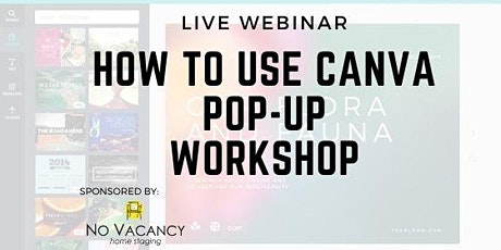 Canva Pop-Up Workshop Webinar tickets