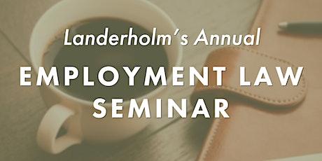 Landerholm's Annual Employment Law Webinar tickets
