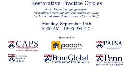 Penn Restorative Practice Circles - September 14th, 2020 tickets