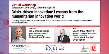 Crisis-driven innovation: Lessons from the humanitarian innovation world tickets
