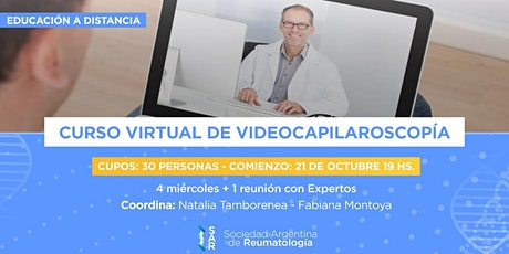 Curso Virtual de Videocapilaroscopía - 1ra Ed. ONL tickets