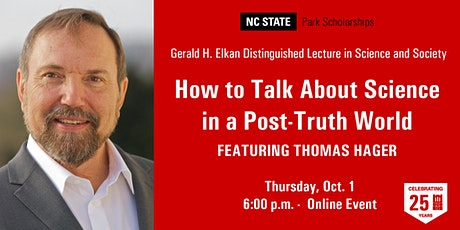 Thomas Hager - Gerald H. Elkan Distinguished Lecture in Science and Society tickets