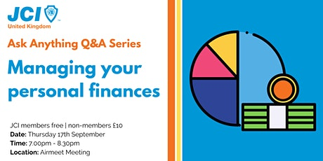 Ask Anything Q&A - Managing your personal finances tickets