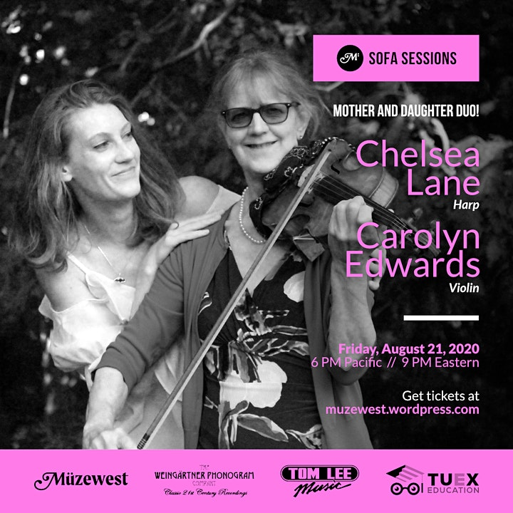 An evening of music for harp and violin - Chelsea Lane and Carolyn Edwards image