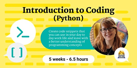 Introduction to Coding with Python (5 week course) tickets