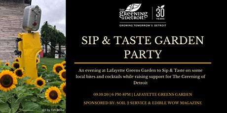 Sip & Taste Garden Party at Lafayette Greens tickets