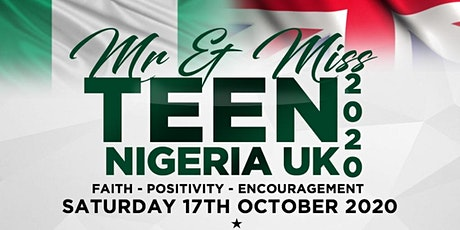 Mr & Miss Teen Nigeria UK- The Finals 2020 tickets