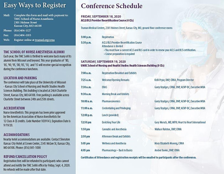 23rd Annual Fall Anesthesia Conference image