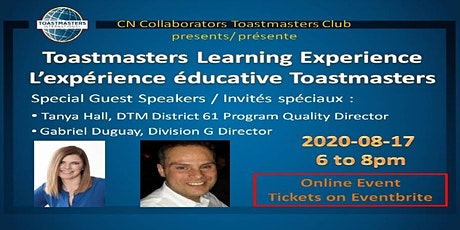 Toastmasters Learning Experience / L'expérience éducative Toastmasters entradas
