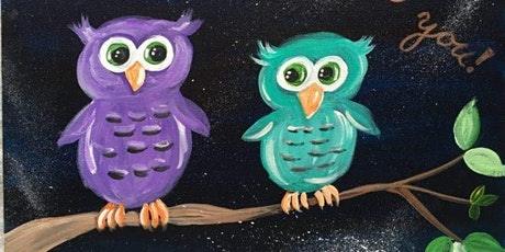 Let's Paint: Pair of Owl's Take & Make Craft tickets