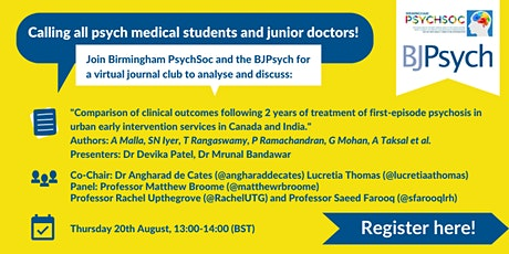 British Journal of Psychiatry Inaugural Journal Club  tickets