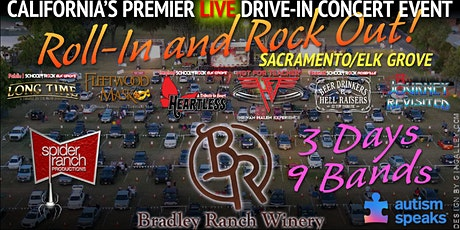 Roll-In and Rock Out *3 Nights* LIVE Drive-In Concerts (Labor Day Weekend) tickets