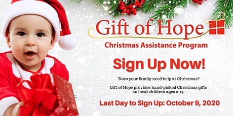Gift of Hope 2020 Online Application tickets