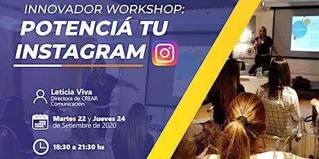 Workshop: Potenciá tu Instagram! entradas