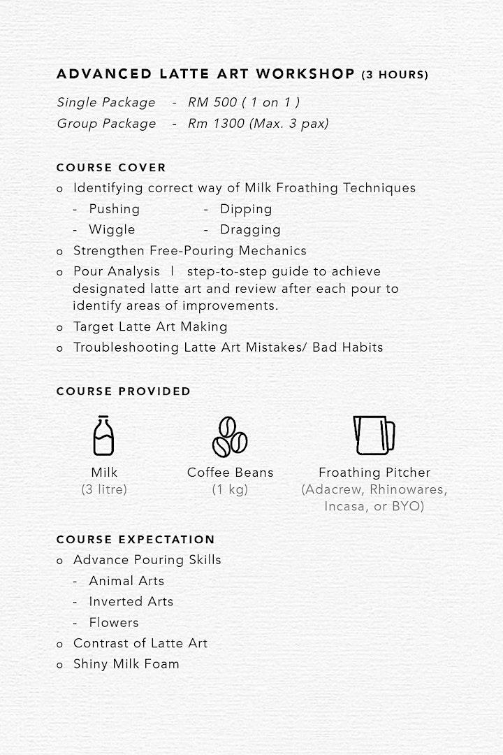 Basic Latte Art Workshop image