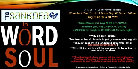 WORD SOUL: The 'Covid-19 Naah Flop Wi Show!'  Edition tickets