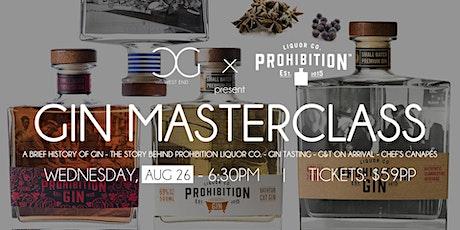 Gin Masterclass - presented by Prohibition Liquor Co. tickets