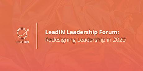 LeadIN Leadership Forum   Redesigning Leadership tickets