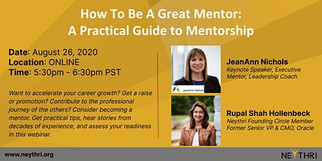 How To Be A Great Mentor: A Practical Guide to Mentorship tickets