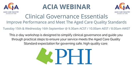 Clinical Governance Essentials tickets