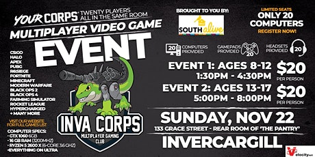 Invercargill Video Gaming Event - November 22 tickets
