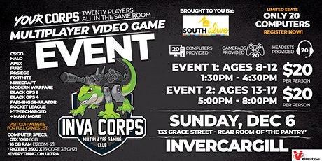 Invercargill Video Gaming Event - December 6 tickets