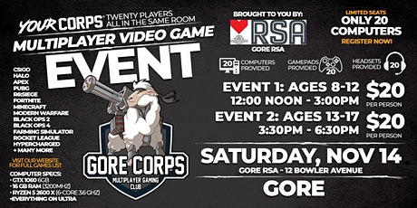 Gore Video Gaming Event - November 14 tickets