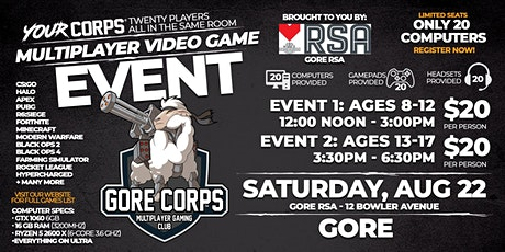 Gore Video Gaming Event - August 22 tickets