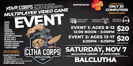 Balclutha Video Gaming Event - November 7 tickets