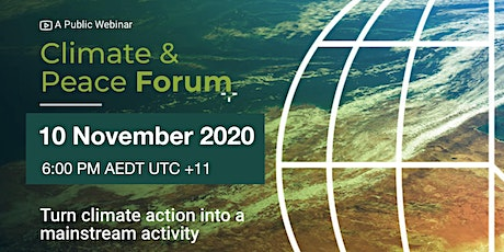Quarterly Climate & Peace Forum tickets