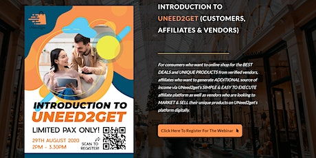 UNEED2GET PRESENTS: INTRODUCTION TO UNEED2GET (CUSTOMERS, AFFILIATES & VEND tickets