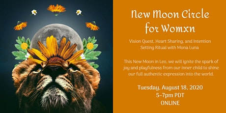 Online New Moon Circle for Women tickets