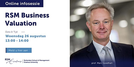 Online informatiesessie RSM Business Valuation - 26 augustus 2020 tickets