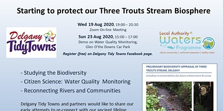 Riverwatch Demo - Water Quality Monitoring for Three Trouts Stream Biosphe tickets