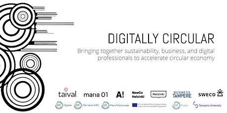 Digitally Circular webinar - Digital Twins in circular economy tickets