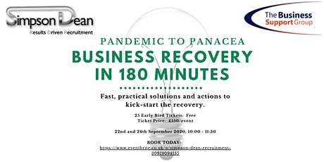 PANDEMIC TO PANACEA - BUSINESS RECOVERY IN 180 MINUTES DAY 1 tickets