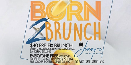 Sunday 2hr Bottomless Brunch + Day Party, Free Champagne Bottle for Bdays tickets