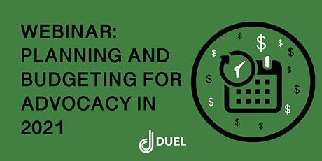 Webinar: Planning & Budgeting for Community, Advocacy & Retention in 2021 tickets