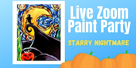 Live Zoom Paint Party - Starry Nightmare tickets