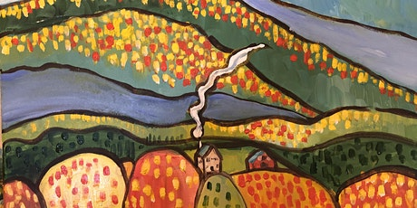 """Sip and Paint Folk Art """"Fall in the Smokies""""! tickets"""