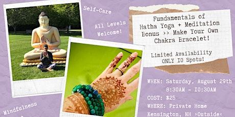 Fundamentals of  Hatha Yoga + Meditation tickets