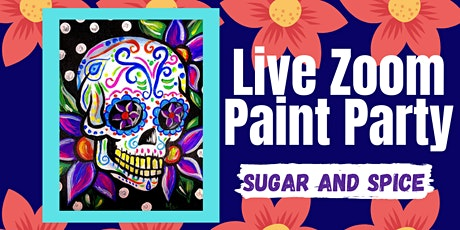 Live Zoom Paint Party - Sugar and Spice tickets