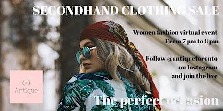 Antique | Online secondhand clothing sale - Vide dressing virtuel biglietti