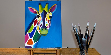 Crazy Giraffes - LIVE painting party - small group - NO experience required tickets