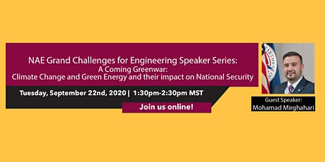 NAE Grand Challenges for Engineering Speaker Series: A Coming Greenwar tickets
